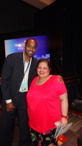 Derek Anderson the famous NBA star(L) with Dr.Afshan Hashmi (R)
