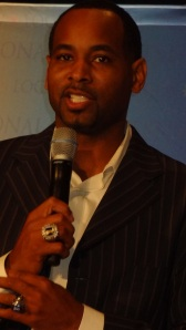 Derek Anderson the famous NBA star speaking at14th Library of Congress National Book Festival