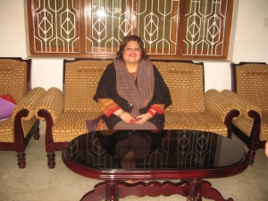 Dr. Afshan Hashmi sitting inside hall of AMU VC Lodge where lot of her birthdays are celebrated , memories !!!!